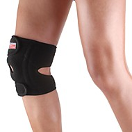 シリコーンスポーツ膝膝蓋骨4スプリングサポートブレースキャップラッププロテクターパッド - フリーサイズ