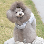 Cat Dog Shirt / T-Shirt Dog Clothes Breathable Cute Casual/Daily Hearts Gray Costume For Pets