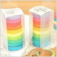 cheap Office Supplies-Colorful Rainbow Design Tapes(Set Of 10) For School / Office