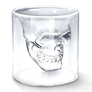 cheap Household & Pets-Cool Transparent Creative Scary Skull Head Design Novelty Drinkware Wine Shot Glass Cup 75ML