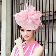 お買い得  -ちょう結びと亜麻とチュールの結婚式/特別な機会/カジュアル帽子(もっと色)
