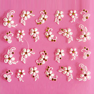 cheap Nail Art-3D Design Lovely Five-petaled Flower Pattern Carving Nail Art Stickers