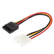 abordables €0.99-4 Pin IDE de 15 pines de serie SATA Power Cable HDD ATA (0,15 M)