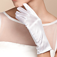 Недорогие Перчатки и рукавицы-Хлопок / Сатин До запястья Перчатка Кулоны / Стиль / Свадебные перчатки С Вышивка / Однотонные