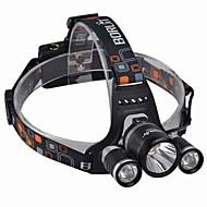 Linternas de Cabeza LED 3000 Lumens 4.0 Modo Cree XM-L T6 18650.0 Resistente a Golpes Recargable Impermeable Camping/Senderismo/Cuevas De