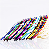 12kpl 12-Color Merkintä Tape Line Nail Stripe Tape Nail Art Decoration tarra