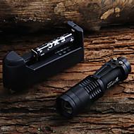 LED taskulamput Käsivalaisimet LED 450 Lumenia 1 Tila Cree XR-E Q5 Säädettävä fokus varten Telttailu/Retkely/Luolailu Päivittäiskäyttöön
