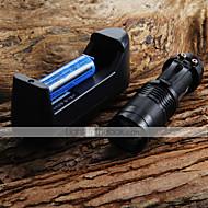 Mini LED Torch 7W 300LM CREE Q5 LED Taskulamppu Säädettävä Focus Zoom taskulamppu + 14500 3.6V Akku + Laturi