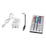 abordables Controladores RGB-Zdm 44 key ir control remoto para luces de tira de led rgb con dc5.5x2.1 línea de conexión macho dc12v