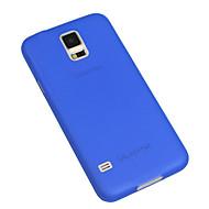 Недорогие Чехлы и кейсы для Galaxy S-Кейс для Назначение SSamsung Galaxy Кейс для  Samsung Galaxy Ультратонкий Полупрозрачный Кейс на заднюю панель Однотонный ПК для S5