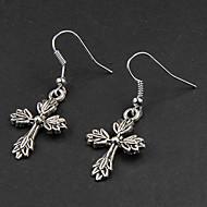 Χαμηλού Κόστους -Κρεμαστά Σκουλαρίκια Σκουλαρίκια Cruce Leaf Shape Κοσμήματα Ασημί Για Πάρτι Καθημερινά