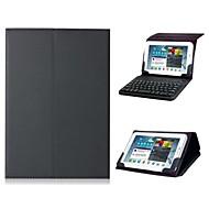 Voor Hoesje cover met standaard met toetsenbord Flip Volledige behuizing hoesje Effen Kleur Hard PU-leer voor iPad Mini 3/2/1