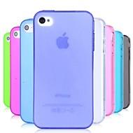 abordables Offres Spéciales Cadeaux-Coque Pour iPhone 4/4S Coque Flexible TPU pour iPhone 4s / 4