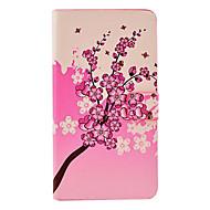 Для Samsung Galaxy Note Бумажник для карт / со стендом / Флип / С узором Кейс для Чехол Кейс для Цветы Искусственная кожа Samsung Note 3