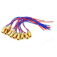 5mW 650nm Copper Semiconductor Laser Dot Diode Head Set - Red + Blue + Golden (10 PCS)