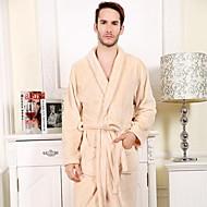 tanie -Świeży styl Bath Robe,Stały Najwyższa jakość 100% Coral Fleece Tkana Plain Ręcznik