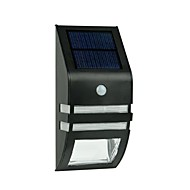 2-LED Stainless Steel Solar Wall Light With PIR Motion Sensor