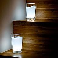 お買い得  テーブルランプ-coway創造的な白いミルクカップランプベッドサイドランプLEDランプが点灯