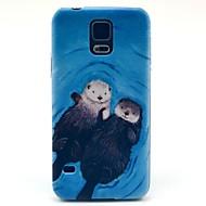 Для Кейс для  Samsung Galaxy С узором Кейс для Задняя крышка Кейс для Животный принт PC Samsung S5