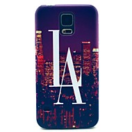 For Samsung Galaxy Case Pattern Case Back Cover Case City View PC Samsung S5