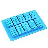 speelgoed baksteen schimmel siliconen ijsblokjes willekeurige kleur (6.52x4.52x0.68 inch)