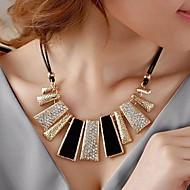 preiswerte -Kristall Geometrisch Stränge Halskette - Diamantimitate Luxus, Modisch Schwarz, Gelb, Rosa Modische Halsketten Schmuck Für Hochzeit, Party, Alltag