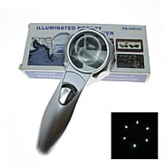 50mm Handheld 7X Magnifier with 6-LED White Light (2 x AAA)