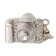 8 GB kamera dizajn USB flash drive s Rhinestone ukras