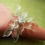12 sztuk / zestaw 3,5 cm akrylowe liści pierścienia na serwetki stołowe przechowywania