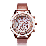 Personalized Gift Women's White Dial Stainless PU Band Analog Engraved Watch