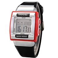 Mujer Reloj Casual Reloj digital Cuarzo Digital Reloj Deportivo PU Banda Negro Blanco Rojo Rosa