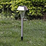tanie Lampychodnikowe-1-LED Whte Solar Stal Lawn Światło lampy ogrodowe Pathway