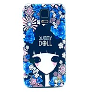 Flower Girl Hard Case Cover for Samsung Galaxy S5 I9600  Galaxy S Series Cases / Covers