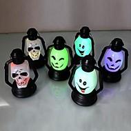 Coway syv farger ledet nattnight halloween forsyninger smiley skallen (tilfeldig farge)