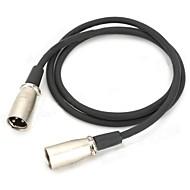hesapli Elektronik Aksesuarlar-siyah + renkli (100cm) 1m 3ft - erkek kablo xlr erkek