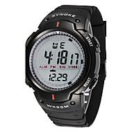 Herrn Sportuhr Armbanduhr digital Alarm Kalender Chronograph Wasserdicht LED LCD Stopuhr Caucho Band Cool Schwarz