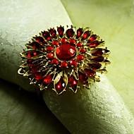 12 kümesi kristal ayçiçeği peçete halkası, akrilik beades, 4,5 cm,