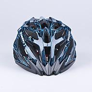 달 27 통풍구 컴퓨터 + EPS는 검은 색과 파란색 자전거 헬멧 (56-62센티미터)를 일체로 성형