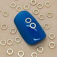 200pcs κούφια στρογγυλό σχήμα χρυσή μεταλλική διακόσμηση art φέτα νυχιών