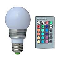 jiawen® e27 3w rgb ledd lampa med fjärrkontroll (ac 100-220v)