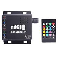 abordables Interruptores  y Enchufes-4a 3 canales rgb llevó el regulador del IR de la música con el mando a distancia multifunción para rgb llevó la lámpara de la tira (dc 12v-24v)