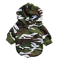 cheap Pet Supplies Accessories-Cat Dog Hoodie Dog Clothes Camouflage Camouflage Color Cotton Costume For Pets Men's Fashion