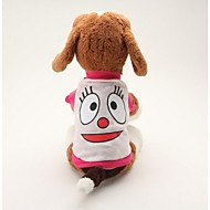 Dog Shirt / T-Shirt Dog Clothes Cartoon Blue Pink Cotton Costume For Pets Men's Women's Cute Casual/Daily