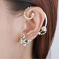 스터드 귀걸이 귀는 모조 다이아몬드 합금 Animal Shape 버터플라이 골든 보석류 용 파티 일상 1PC