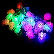 20 led 4m vedenpitävä joulu koristelu ananas rgb valo johti merkkijono valo (220v)