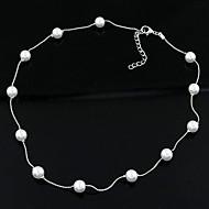 Жен. Жемчужные ожерелья Жемчуг Одинарная цепочка Мода Бижутерия