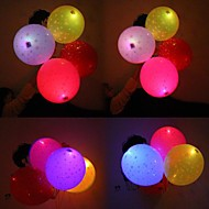 billige -Coway Stars Light Up Balloon Filled With Printed Star LED Printing Balloon(Random Color)
