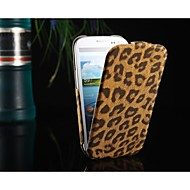 Varten Samsung Galaxy kotelo Flip / Kuvio Etui Kokonaan peittävä Etui Leopardiprintti Tekonahka Samsung S3