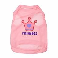 Katt Hund T-shirt Hundkläder Tiaror och kronor Ros Rosa Kostym För husdjur