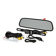 """Visión nocturna Kit de cámara de reversa de copia de seguridad 4.3 lcd sistema de visión trasera del coche """"tft monitor de"""